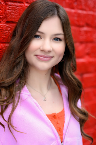 Teenager, fun, smiling, actor headshot, bright clothes and background, Seattle, WA