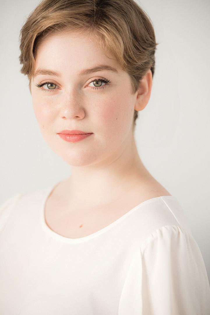 Young actress natural light headshot, Seattle, WA