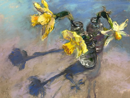 Narcissus in Glass by Mary Beth Morrison