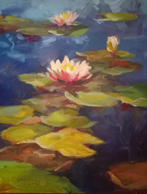 Water Lily Series III by Sandra Leinonen Dunn