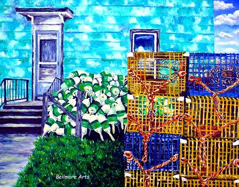 Fisherman's Dooryard by Laurie Lofman Bellmore