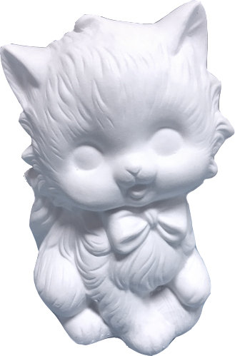 Kitty with Bow Statue Painting Kit