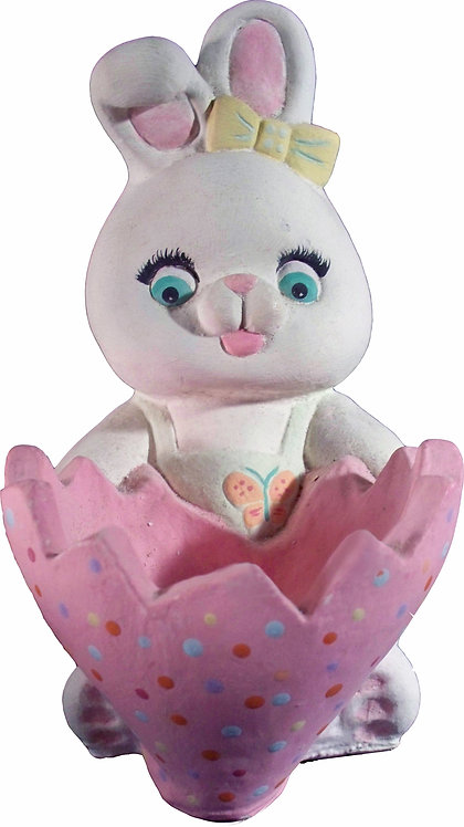 Bunny with Egg Bowl Statue Painting Kit