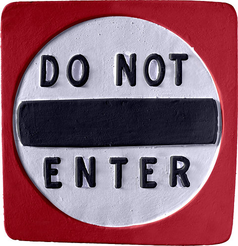 Do Not Enter Small Plaque Painting Kit