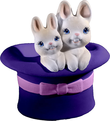 Bunnies in Hat Statue Painting Kit