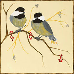 Chickadees and Berries