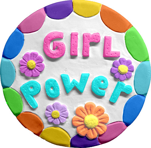Girl Power Plaque Painting Kit