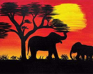 Savannah Sunset I