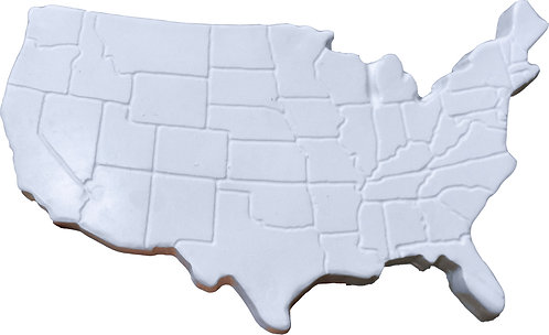 United States Map Plaque Painting Kit
