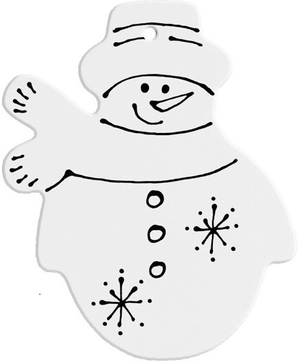 Hand Detailed Frosty Party Ornament Painting Kit