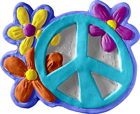 Peace with flowers plaque Painting Kit