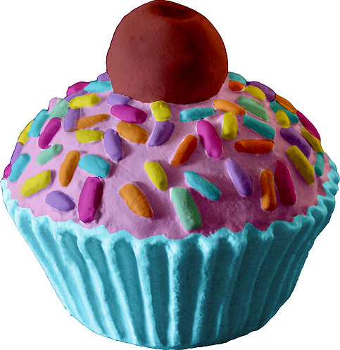 Cupcake with Cherry Statue Painting Kit