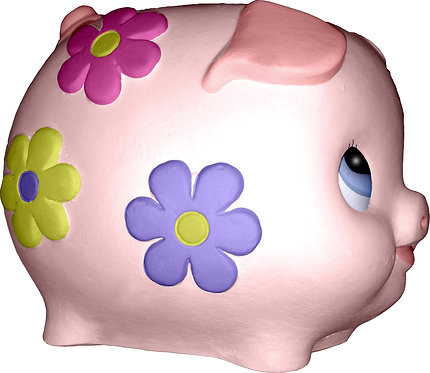 Little Pig with Flowers Statue Painting Kit