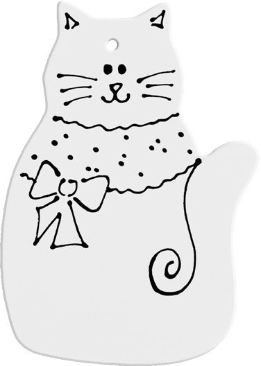 Hand Detailed Pretty Kitty Party Ornament Painting Kit