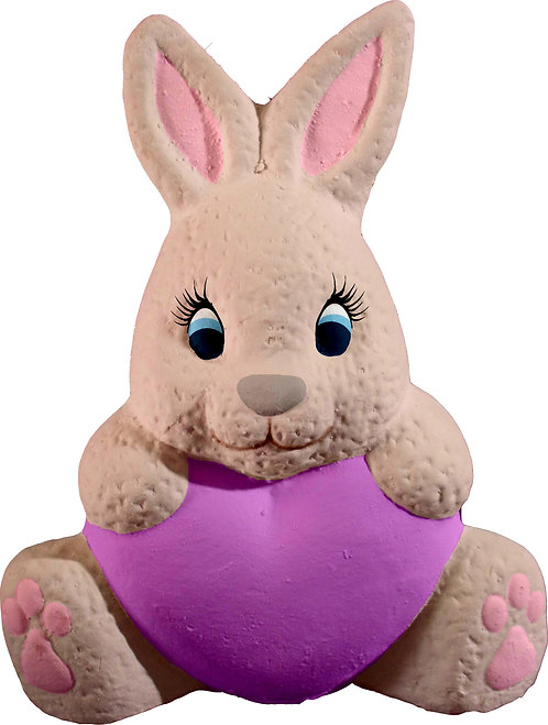 Bunny with Heart Seated Statue Painting Kit