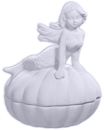 Mermaid Shell Box Painting Kit