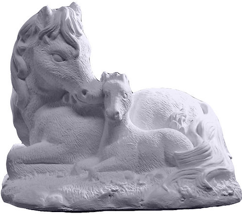 Horse Family Statue Painting Kit