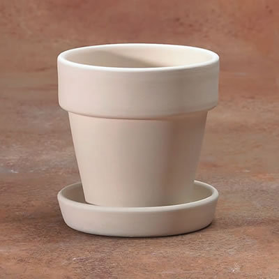 SMALL FLOWER POT with SAUCER