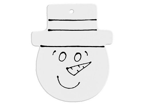 Hand Detailed Snowman Face Party Ornament Painting Kit