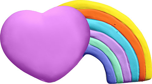 Heart Rainbow Plaque Painting Kit