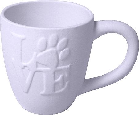 Love Paw Print Mug