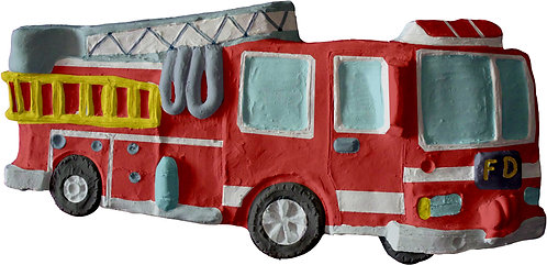Fire Truck Plaque Painting Kit