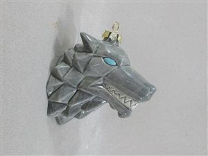 Origami Wolf Ornament