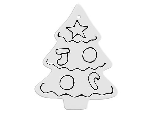 Hand Detailed Classic Christmas Tree Party Ornament Painting Kit