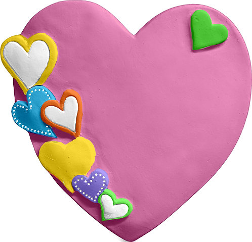 Single Heart Covered Heart Plaque Painting Kit