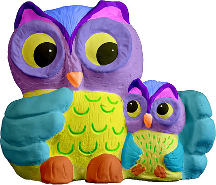 Owl and Baby Statue Painting Kit