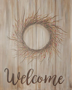 Welcome Berry Wreath