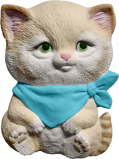 Kitten with Bandana Plaque Painting Kit