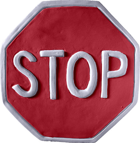 Stop Sign Plaque Painting Kit