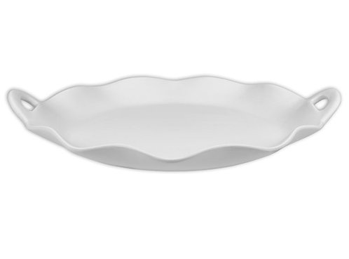 Scalloped Tray with Handles