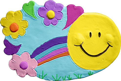 Sunshine and flowers Plaque Painting Kit