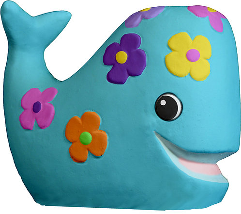Whale with Flowers Statue Painting Kit