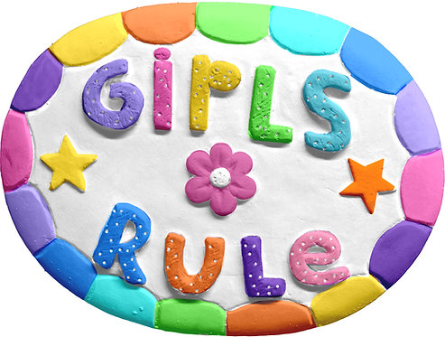 Girls Rule Plaque Painting Kit