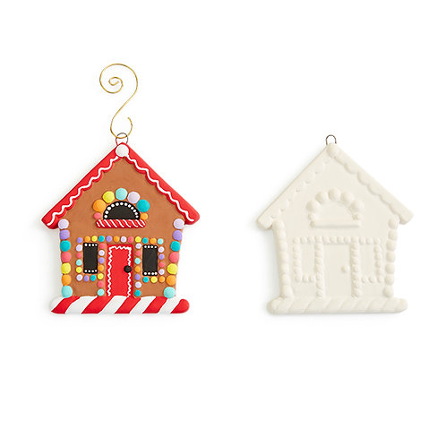 GINGERBREAD HOUSE FLAT ORNAMENT Painting Kit