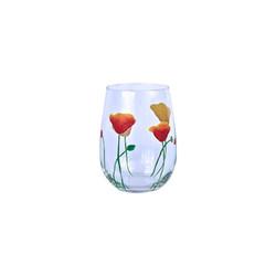 poppy stemless glass