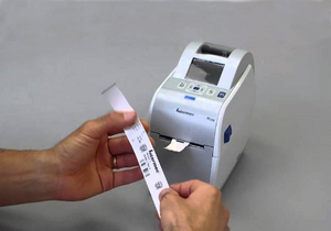 Use PC23d  Printer to print barcode wristband