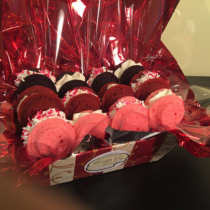Valentine's Day Gift Basket-Two Dozen Mini Shuga Pies