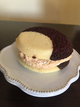Vegan Black & White Peanut Butter Cream