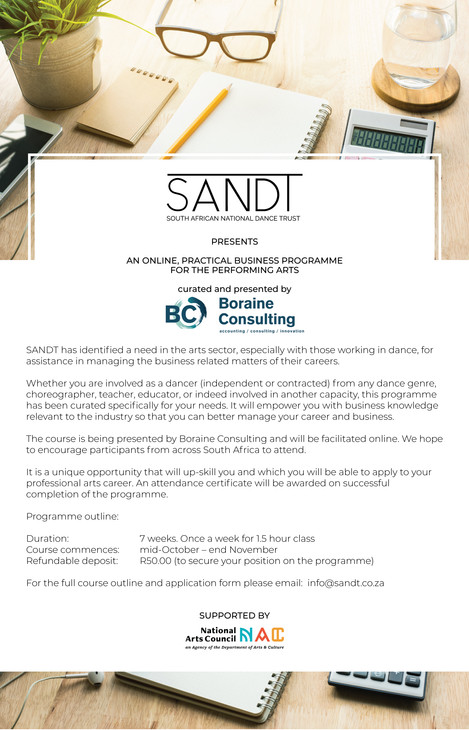 Exciting Partnership with The South African National Dance Trust (SANDT)