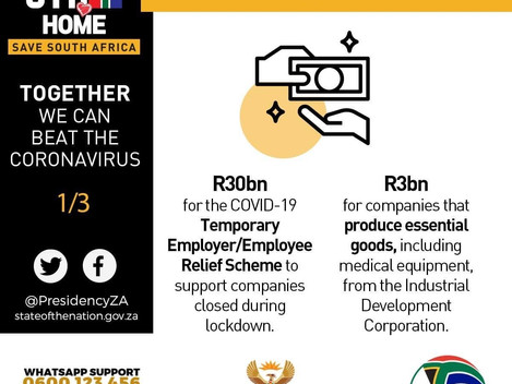 South African Government Economic Support Measures for SMMEs