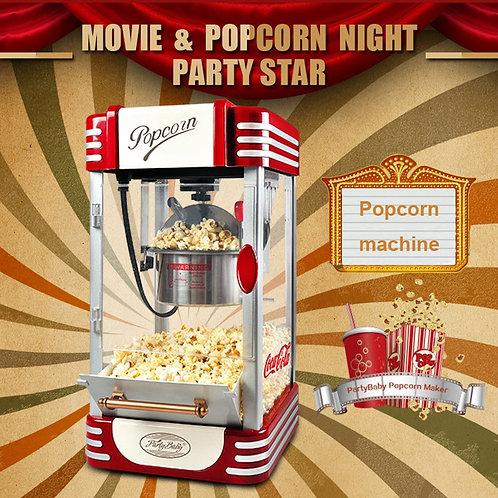 220V Popcorn Machine Corn Popper Self-Motion Popcorn Popper