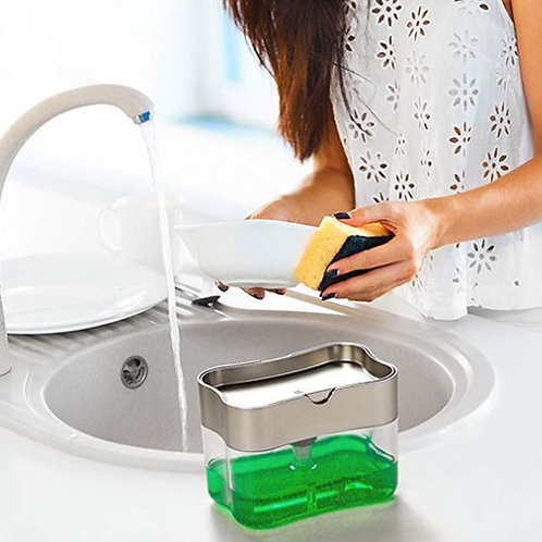 Soap Dispenser Pump Sponge. New Creative Manual Press Liquid Dispenser Sponge