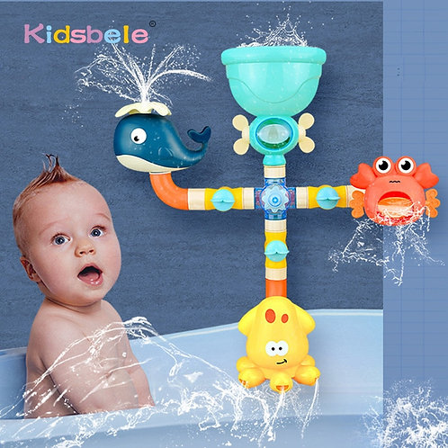 Baby Bath Toys Water Game Giraffe Crab Model Faucet Shower Spray Toy for Kids