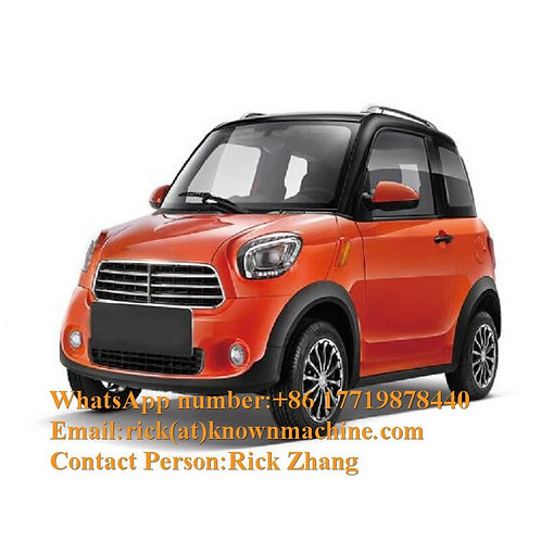 High Speed Luxury Adult Solar Mini Electric Car With 4 People Seats Capacity