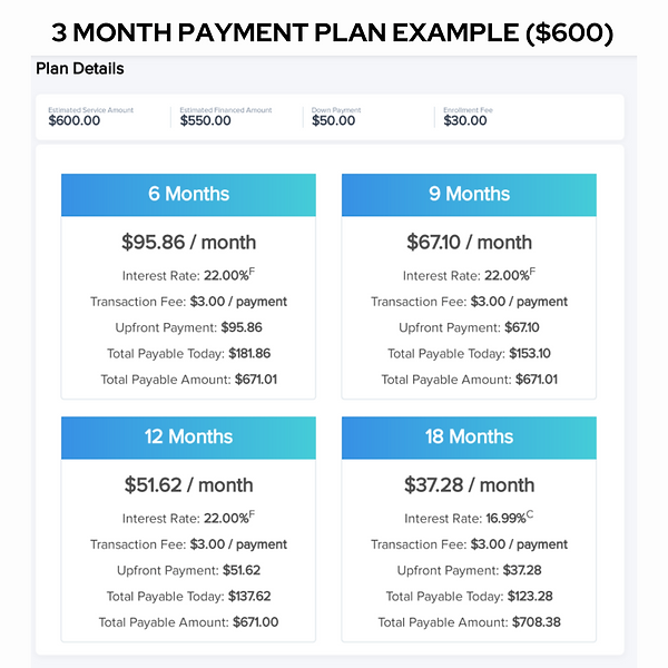 3 month service package
