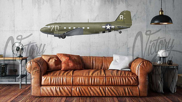 C-47A Dakota, 80th Troop Carrier Squadron, 436th Troop Carrier Group, USAAF, Fra